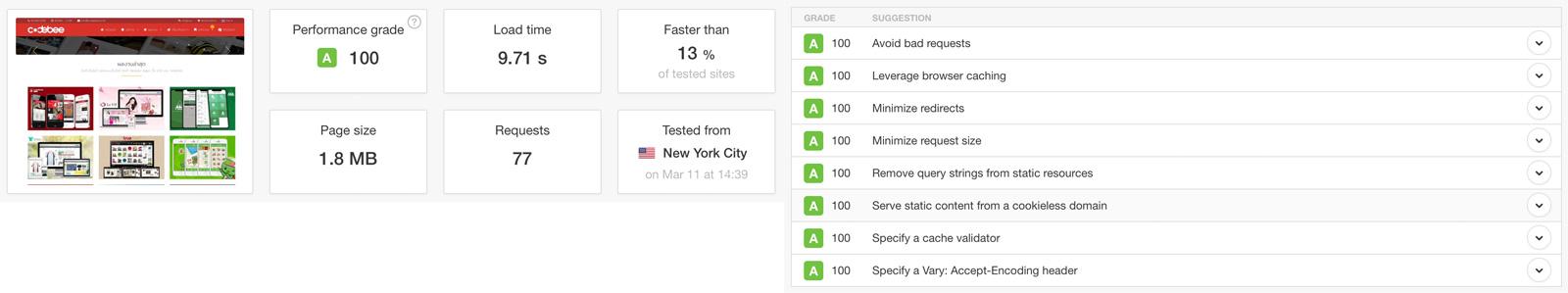 รับเพิ่มความเร็วเว็บไซต์ Google PageSpeed