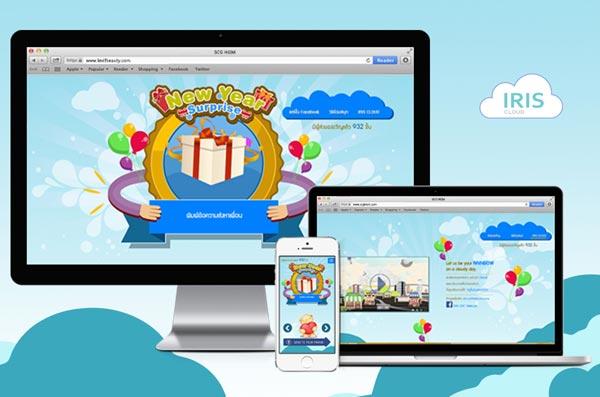 ออกแบบเว็บไซต์ iris cloud