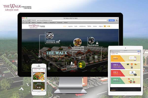 ออกแบบเว็บไซต์ the walk lifestyle mall