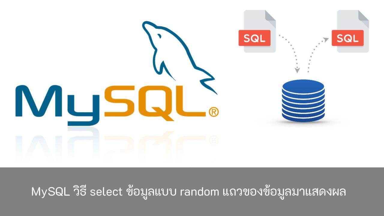 MySQL-วิธี-select-ข้อมูลแบบ-random-แถวข้อมูล